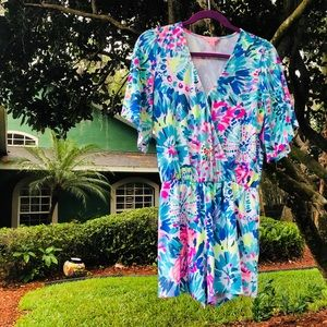 Lilly Pulitzer madilyn romper rare xs